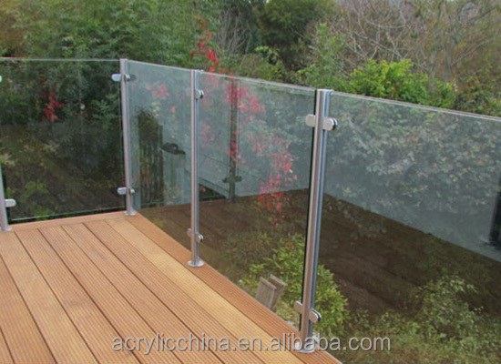 High quality furniture plexiglass deck railing,transparent sturdy acrylic /plexiglass deck railing