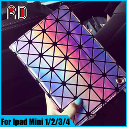 2016 newest Rhombic design bling diamond pattern case cover for ipad mini 2/3/4