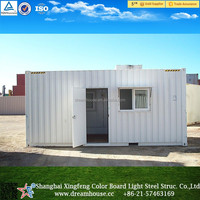 flat roof modular house/container house luxury/20 feet container price