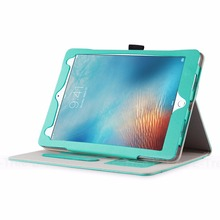 E-Tree Original green leather ten pattern case for iPad pro 9.7 tablet case flip sleep awake