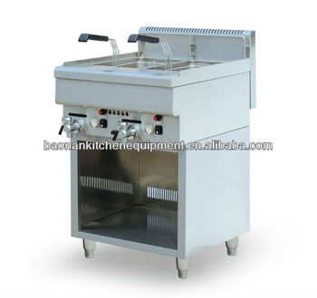 2-Tank 2-Basket Stainless Steel Gas Fryer