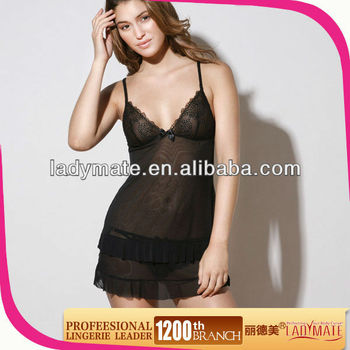 Black Hot Ladies Night Wears