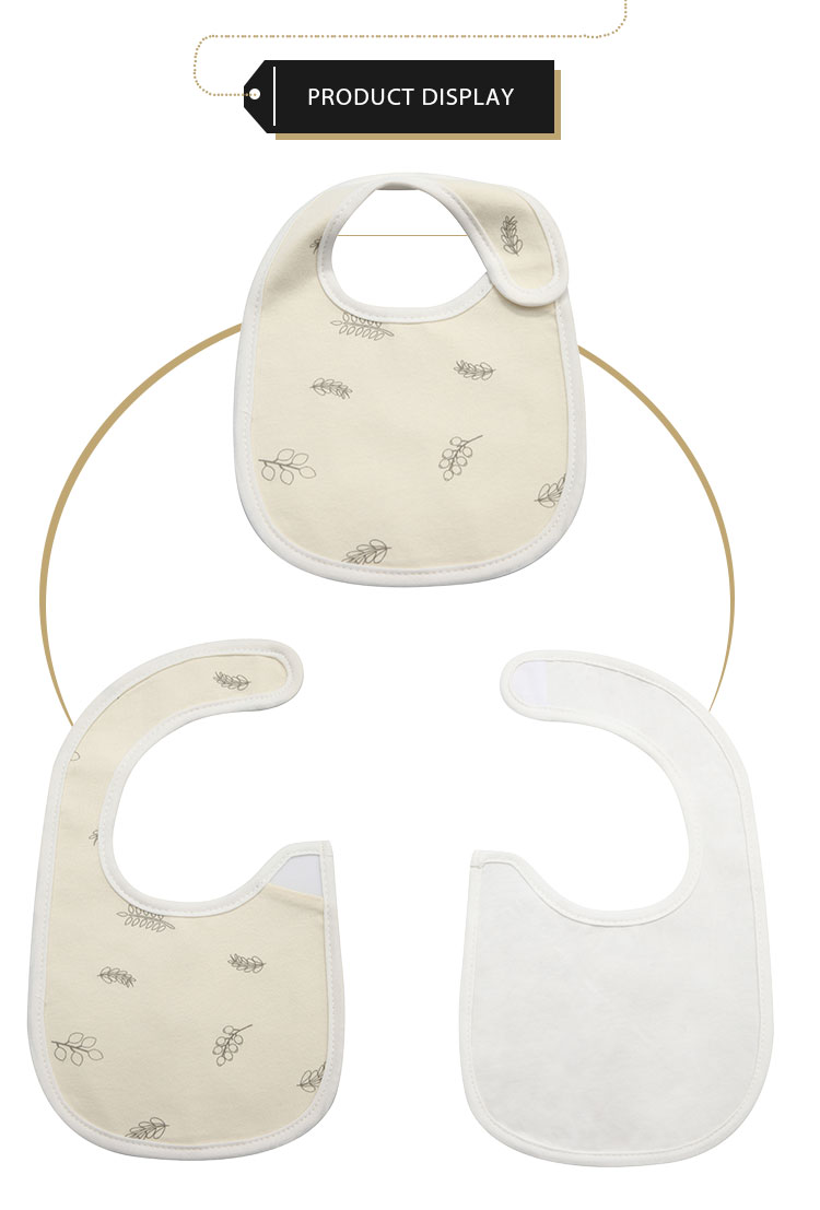 For drooling and teething cotton baby bibs printed baby bandana drool bibs organic