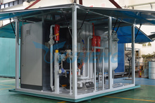 Compressed air powered generator for transformer station