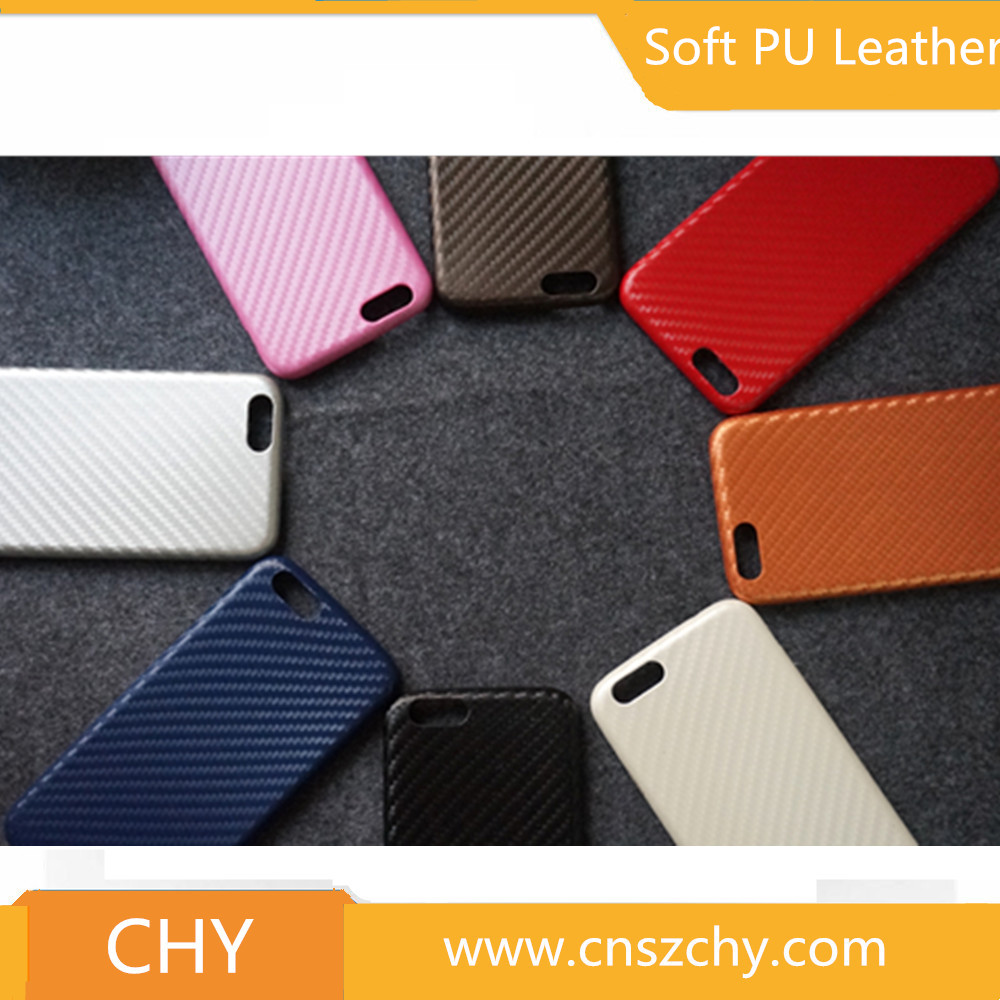 Phone accessories ultra thin carbon fiber skin leather back cover case for iphone 6