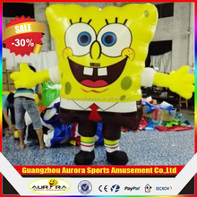 New finished sponge Bob inflatable costume, inflatable walking costume