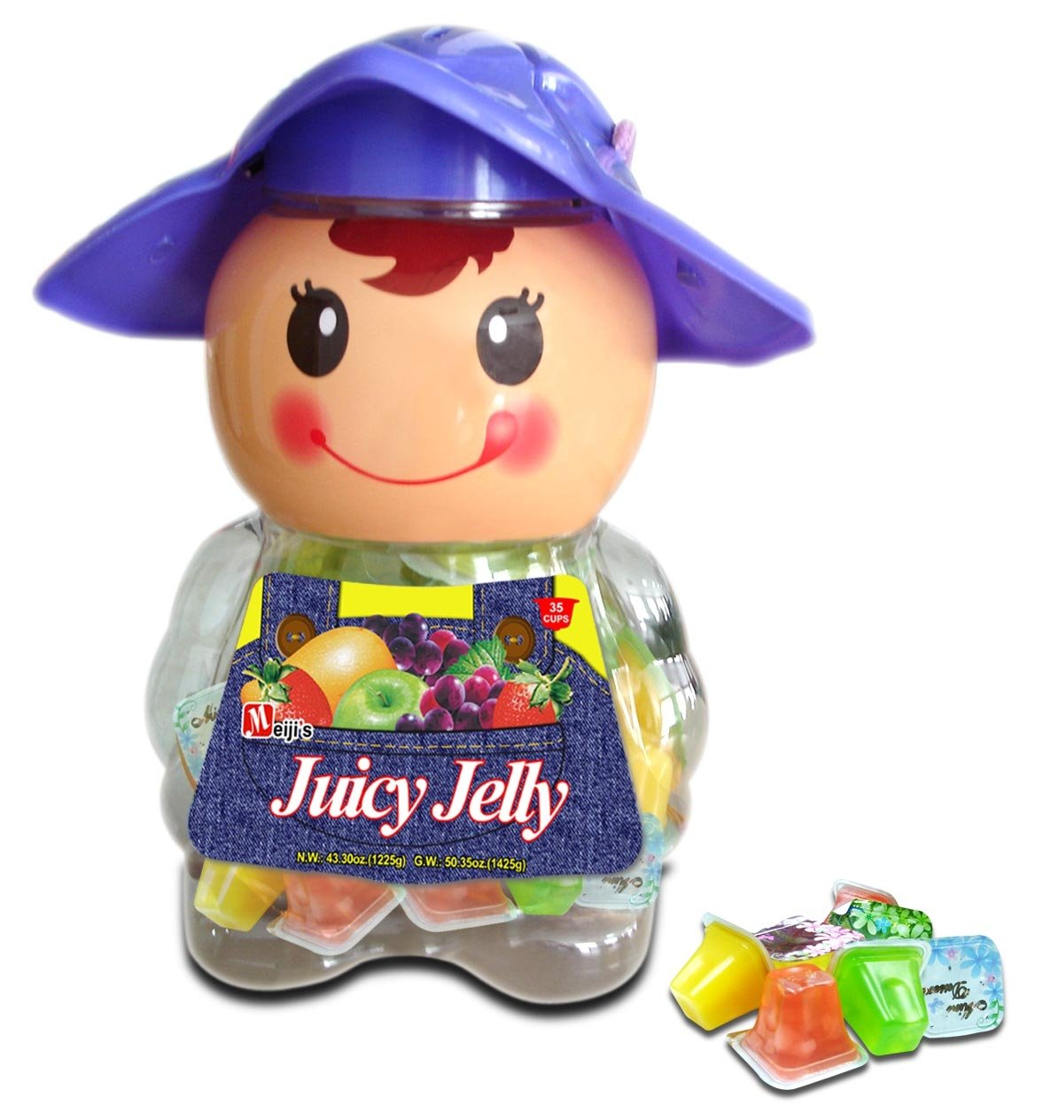 Juicy Jelly Cups - Assorted (Baby Doll) 6jars/35cups