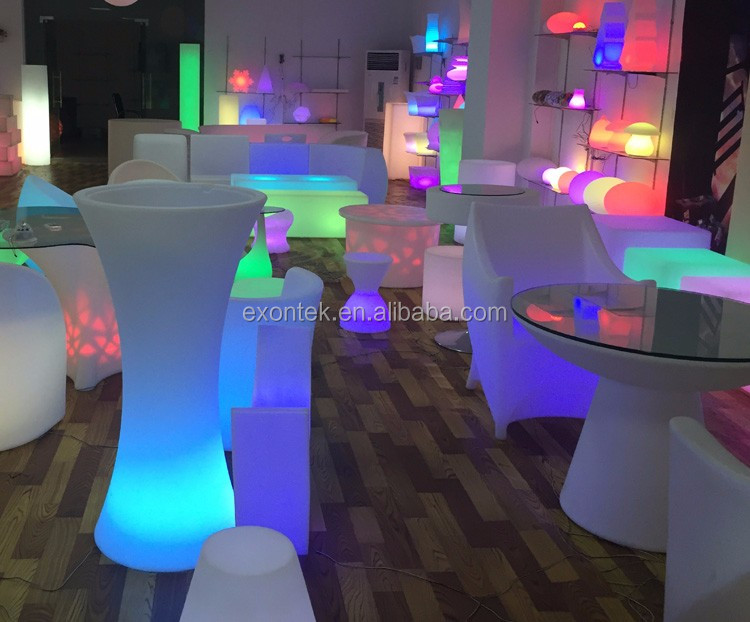 2017 wholesale led bar furniture small seat cube cube stools for kids 50X50X50CM top seller in Euro-market