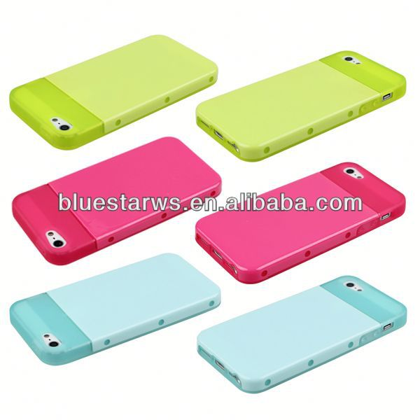 For iphone5 tpu case Combo Hybrid Rubber PC Bumper TPU Case For Apple iPhone5