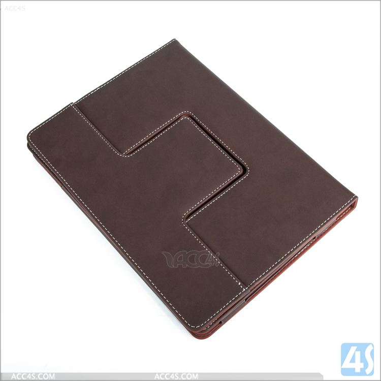 New Arrival PU Leather Case For ipad 4 With Card Slots And Handholder