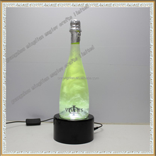 acrylic lighting sparkling wine bottle rotating display stand
