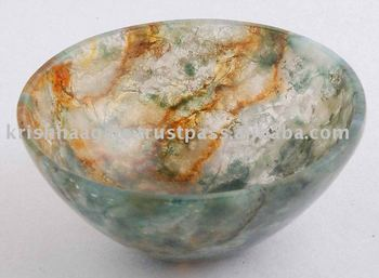 Moss Agate Bowl Gemstone Bowl