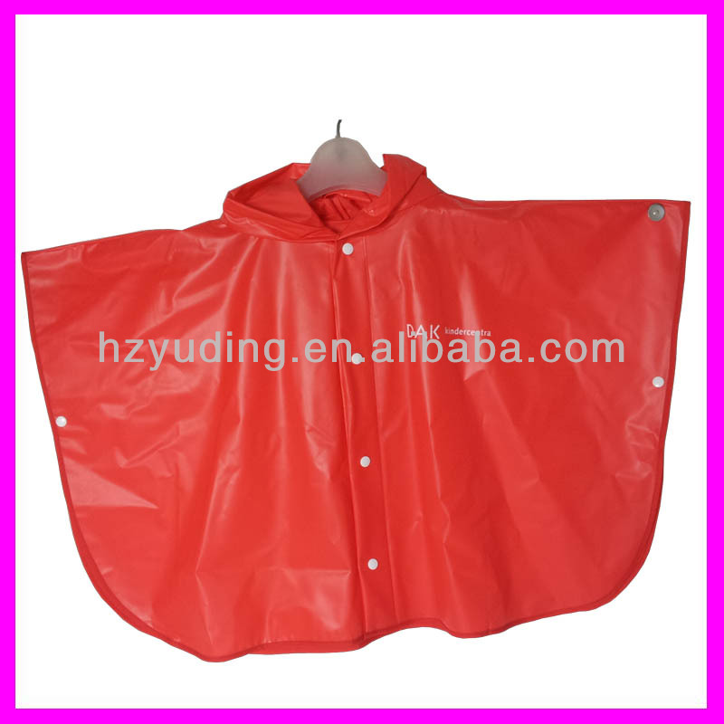 100% PVC Raincoat For Kids children poncho