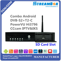 PowerVU Hi3796 4K IKS H.265 DVB S2+T2-C USB 3.0 for PVR Cccam IPTV Combo Android Media Player HD