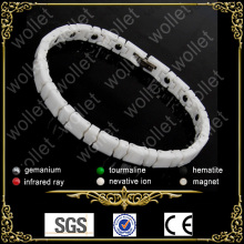 China manufacturer most popular top sales all white ceramic jewelry with bio magnet in alibabaexpress