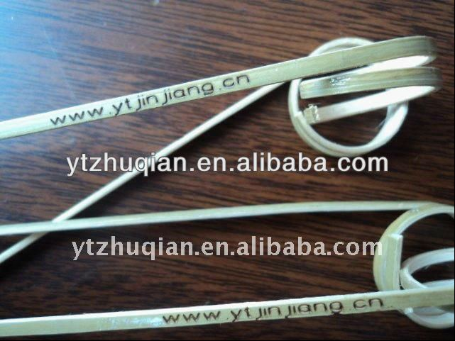Best sale natural green top grade hot stamp bamboo knot sticks use fruit or food