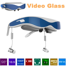 Virtual Reality 3d video glasses 1080P 98Inch virtual eyewear glasses Blue