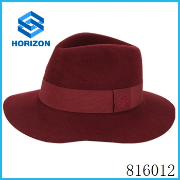 new design sauna wool felt hat/ millinery beach holiday hat cloche shape