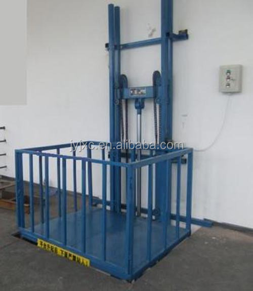Hydraulic Vertical Lift : Skyscraping tower guide rail hydraulic vertical cargo lift