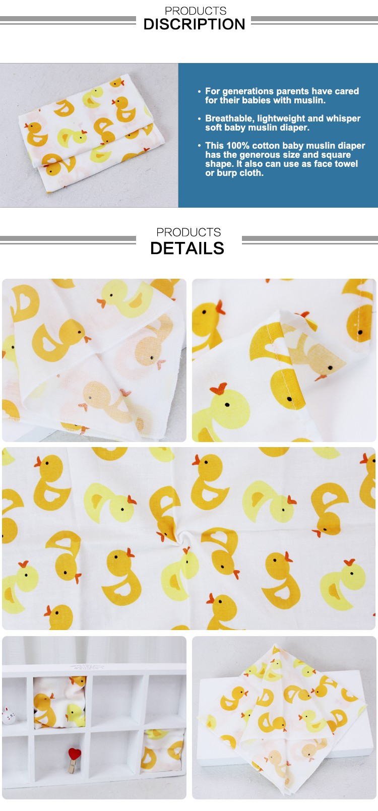 MOD 330 Manufactory supply 100% cotton fabric printed cloth diapers
