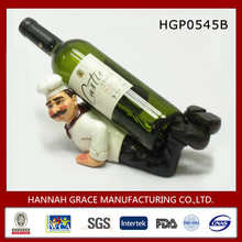 Resin Figurine Chef Wine Bottle Holder