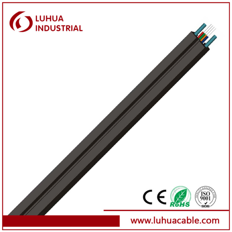 Self-supporting 2 core FTTH Fiber Optical Cable