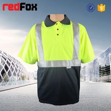 cheap reflective safety mens work polo t shirt