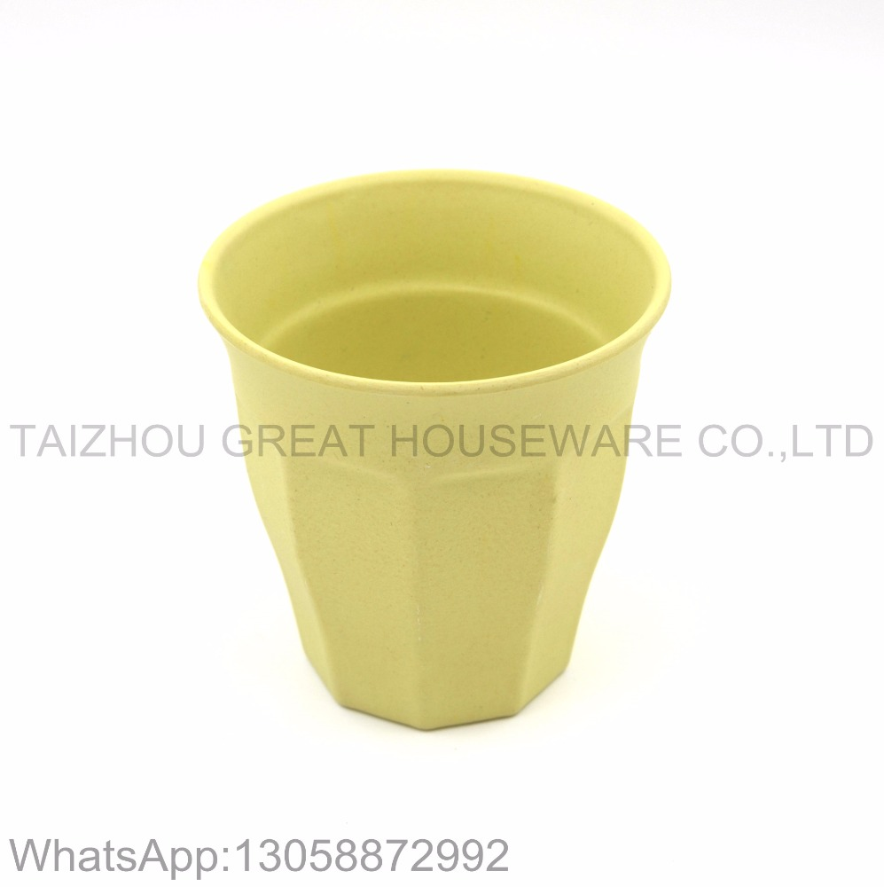 10oz/280ml customized healthy bamboo fiber material tumbler cup with reinforcement