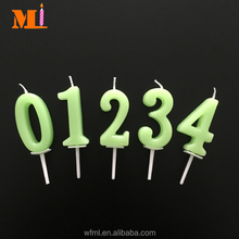 Quality-oriented Party Use Zero To Nine Novelty Birthday Green Cake Number Candle