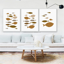 kids room decoration Creative little fish poster art minimalist canvas hd prints Nordic plaques Modular pictures