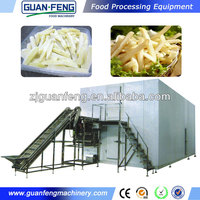 Quick freeze machine frozen potato french fries making machine
