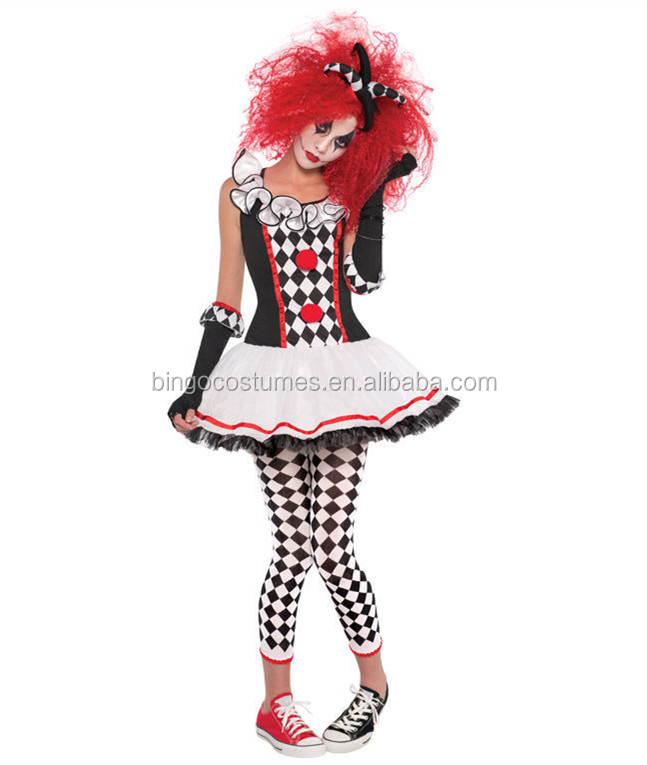 Halloween Adult Funny Clown Costumes For Women