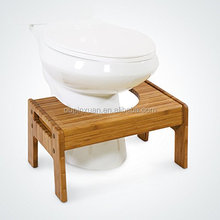 "Toilet Foot stool adjustable height 7"" or 9"" eco-friendly bamboo foot stool toliet stool"