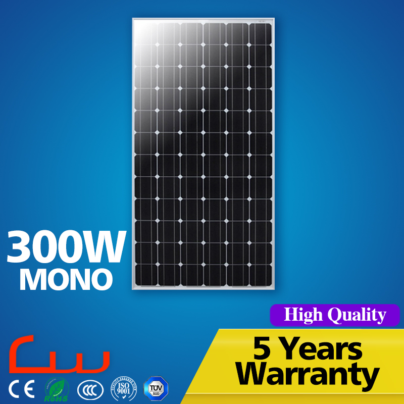 Waterproof IP65 48V 300W solar panel price pakistan cost