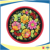 10cm Round Embroidery Sublimation Printing Flower Design Cup Coaster with non-slip fabric pad for Gift