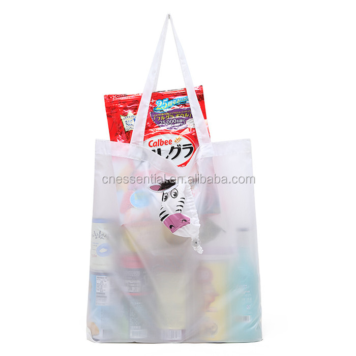 Bear animal shape reusable folding shopping bag, bear foldable bag