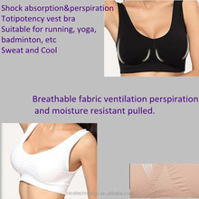 9 colors,3 pcs Pastel Double Push Up Genie Bra Women Sport Genie Bra With Removable Pads