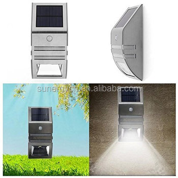 2 LED Solar Power Motion Sensor Garden Security Lamp Outdoor Waterproof Wall Lamps