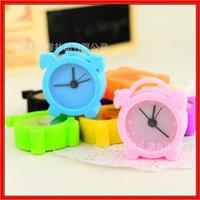 Rohs CE cute mini silicone table alarm clock for travel