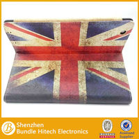 Deluxe leather case for ipad4/3/2,for ipad4/3/2 flag cover