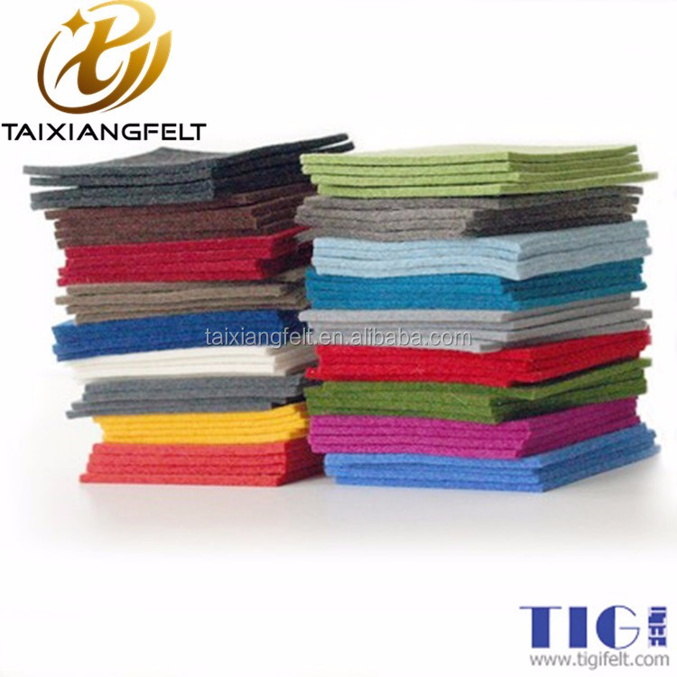 wool/polyester blend felt fabric