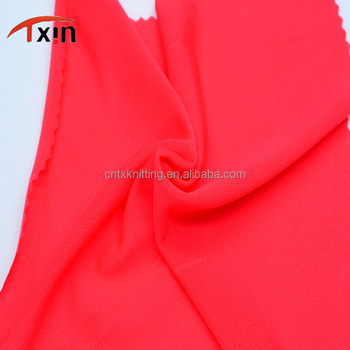 Tongxin Textile Single Face Fabric Polyester Knitted Power Stretch Single Mutispandex Jersey Fabric for Swimwear