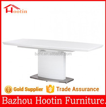 2014 hot sell clear glass table top and high glossy painting shelf oval coffee table for living room furniture