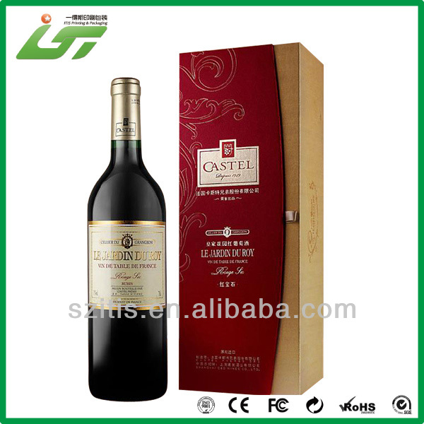 Luxury custom high quality wine glass box gift set