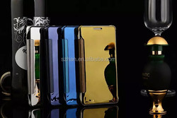 Clear View Mirror Screen Flip Leather Case For Samsung Galaxy A5 A500F A5000