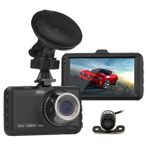3.0 inch Screen Display Vehicle DVR, Ambarella Programs, 170 Degree Wide Angle Viewing, 2 Cameras, Support Motion Detection / N