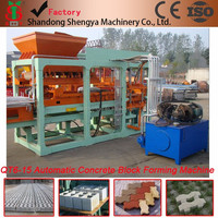 QT6-15 automatic hydraulic concrete hollow block making machine/paver block making machine have office in Africa