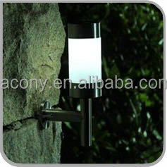New Stainless Steel Solar Powered Led Wall Light Lamp Outdoor Garden (JL-8501W)