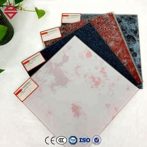 CUSTOMIZED DECORATIVE CURTAIN WALL TEMPERED CERAMIC SILKSCREEN PRINTED GLASS