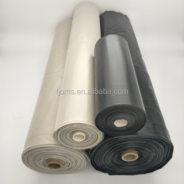 Black / Clear Poly Film Polyethylene Sheeting Plastic Sheeting Poly Sheeting For Construction